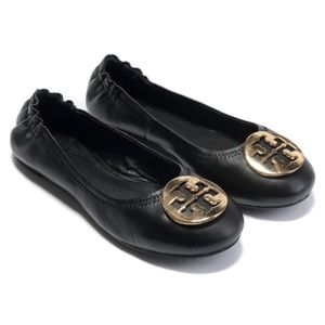 REVA FLAT Black and Gold 9 great condition w Box